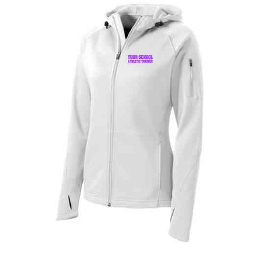 Athletic Trainer Sport-Tek Embroidered Womens Tech Fleece Hooded Jacket