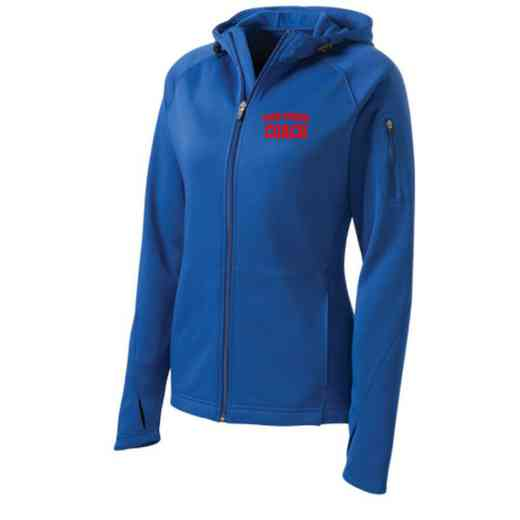 Coach Sport-Tek Embroidered Womens Tech Fleece Hooded Jacket