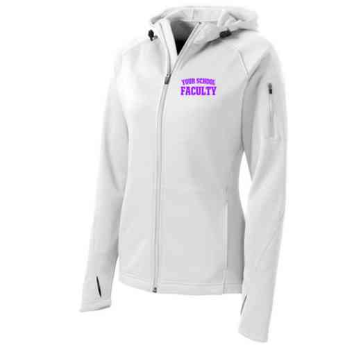 Faculty Sport-Tek Embroidered Womens Tech Fleece Hooded Jacket
