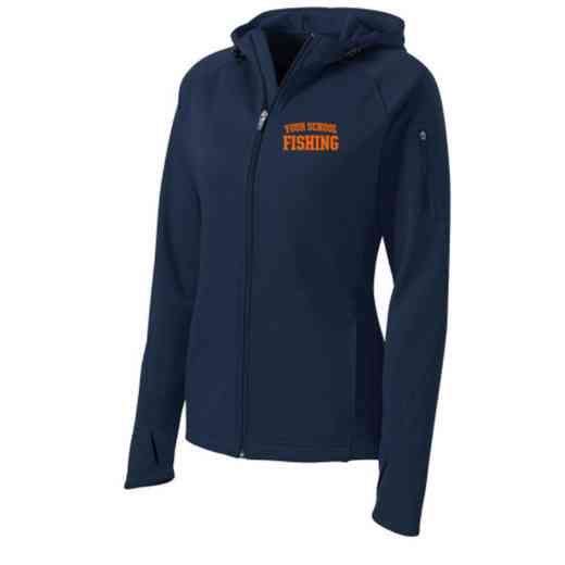 Fishing Sport-Tek Embroidered Womens Tech Fleece Hooded Jacket