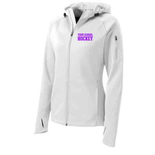 Hockey Sport-Tek Embroidered Womens Tech Fleece Hooded Jacket