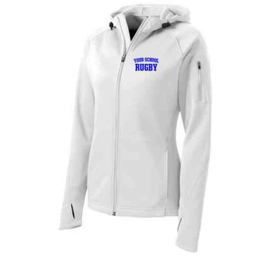 Rugby Sport-Tek Embroidered Womens Tech Fleece Hooded Jacket