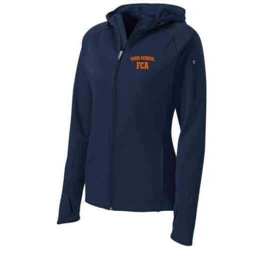 FCA Sport-Tek Embroidered Womens Tech Fleece Hooded Jacket