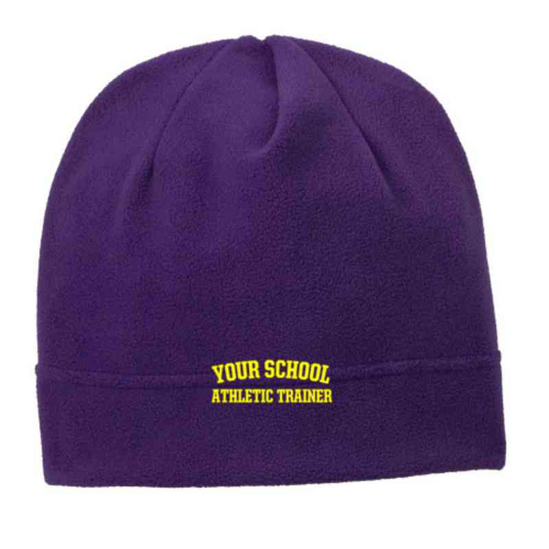 C900-ATHTRN-OSFA: Athletic Trainer Embroidered Stretch Fleece Beanie