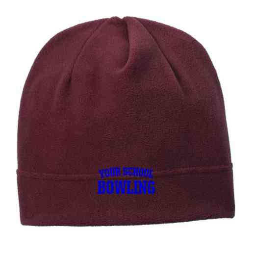 C900-BOWL-OSFA: Bowling Embroidered Stretch Fleece Beanie