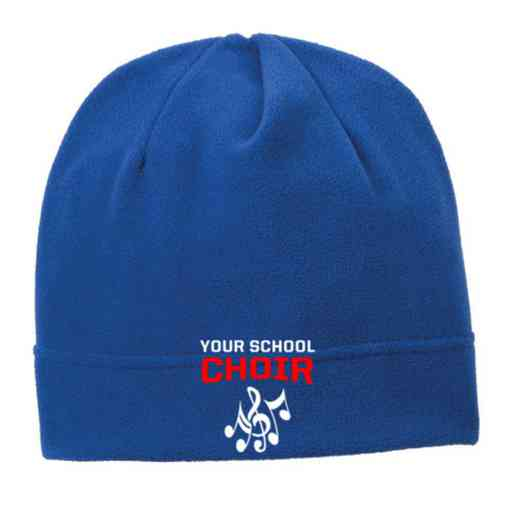 C900-CHOIR-OSFA: Choir Embroidered Stretch Fleece Beanie