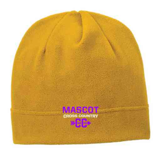 C900-CC-OSFA: Cross Country Embroidered Stretch Fleece Beanie