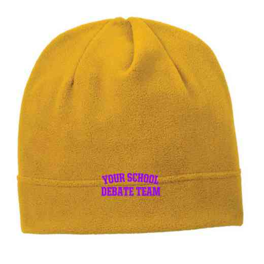C900-DEBATE-OSFA: Debate Team Embroidered Stretch Fleece Beanie