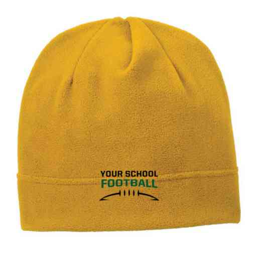 C900-FB-OSFA: Football Embroidered Stretch Fleece Beanie