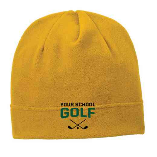 C900-GOLF-OSFA: Golf Embroidered Stretch Fleece Beanie