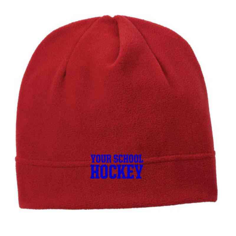 C900-HOCKEY-OSFA: Hockey Embroidered Stretch Fleece Beanie