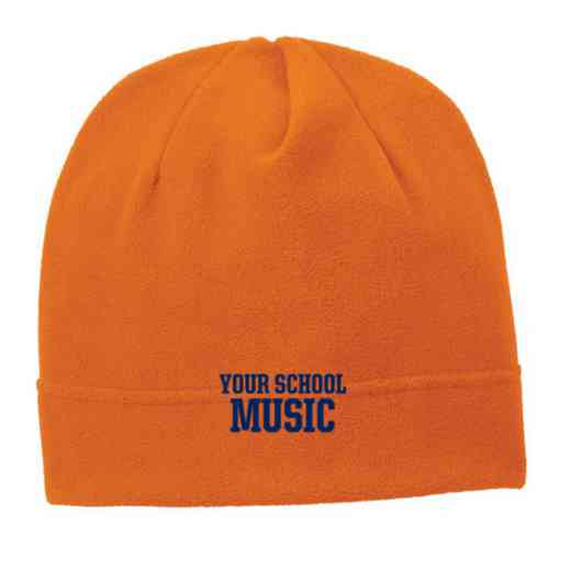C900-MUSIC-OSFA: Music Embroidered Stretch Fleece Beanie
