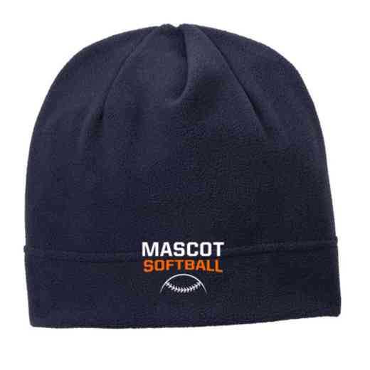 C900-SOFTB-OSFA: Softball Embroidered Stretch Fleece Beanie