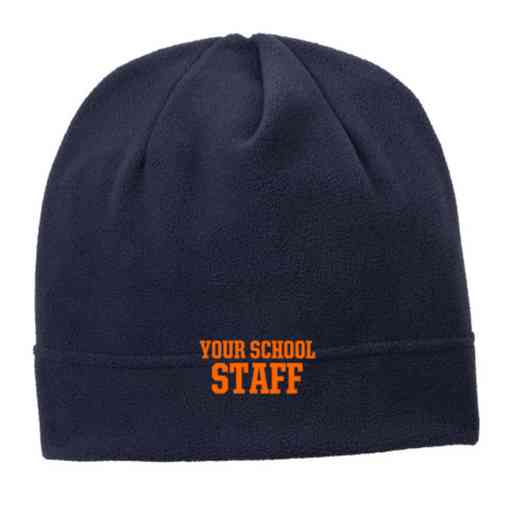 C900-STAFF-OSFA: Staff Embroidered Stretch Fleece Beanie