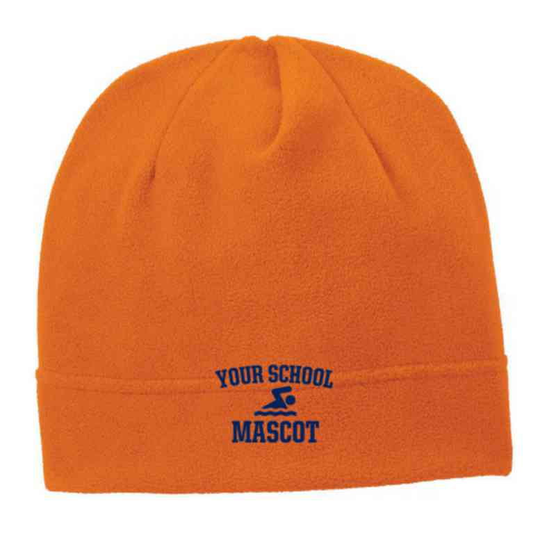 C900-SWIM-OSFA: Swimming and Diving Embroidered Stretch Fleece Beanie