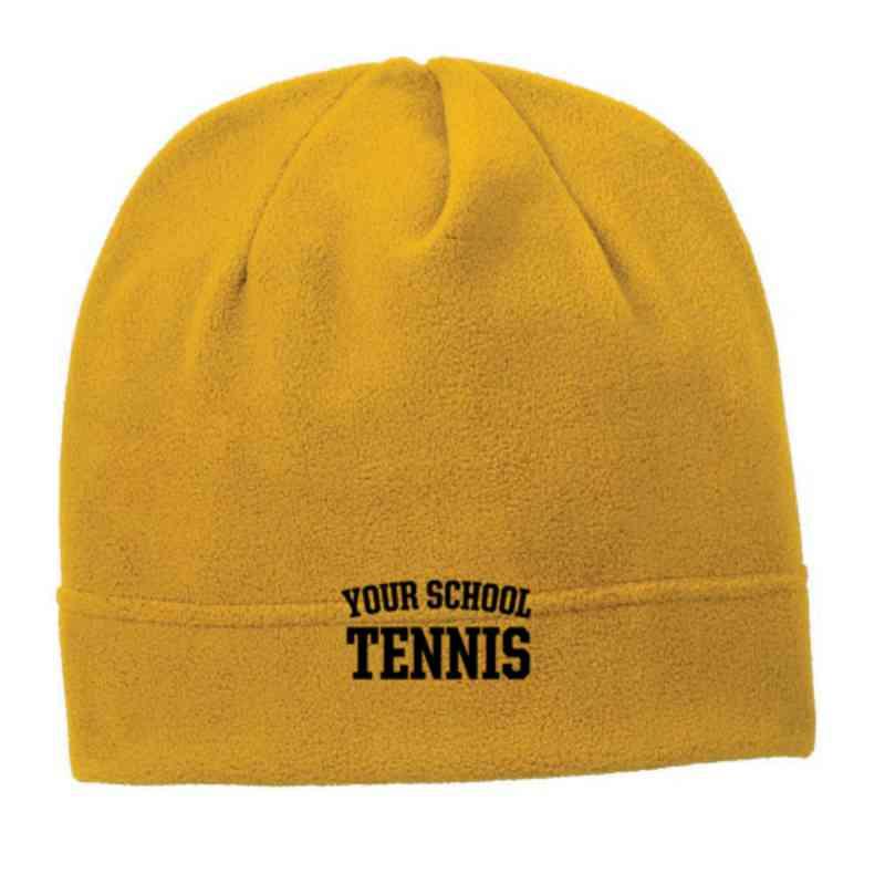 C900-TENNIS-OSFA: Tennis Embroidered Stretch Fleece Beanie