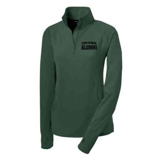 Alumni Sport-Tek Embroidered Womens Half Zip Stretch Pullover