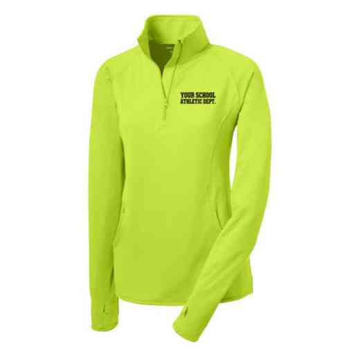 Athletic Department Sport-Tek Embroidered Womens Half Zip Stretch Pullover