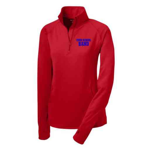 Band Sport-Tek Embroidered Womens Half Zip Stretch Pullover