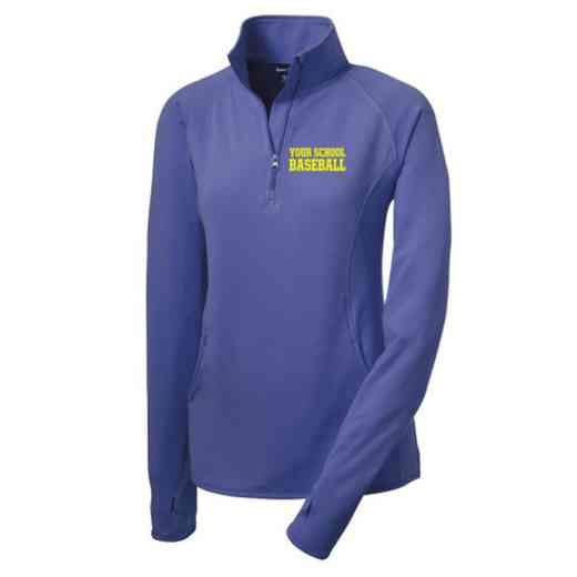 Baseball Sport-Tek Embroidered Womens Half Zip Stretch Pullover