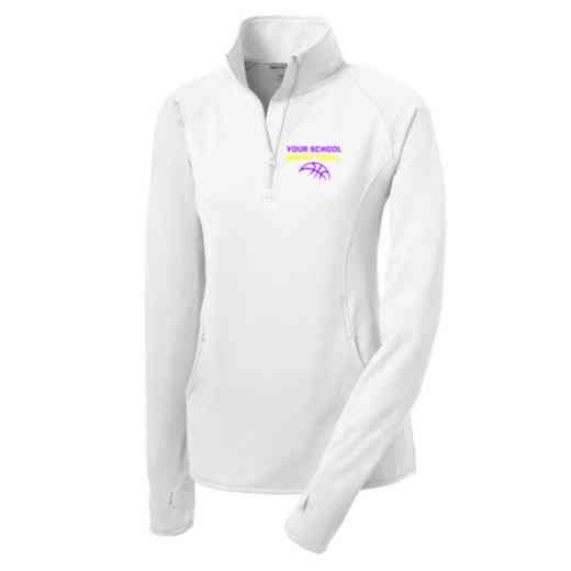 Basketball Sport-Tek Embroidered Womens Half Zip Stretch Pullover