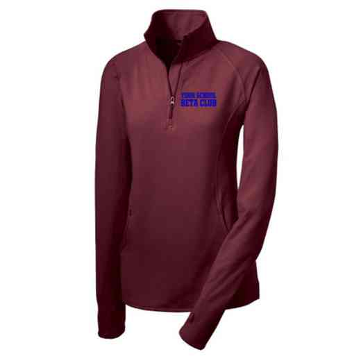 Beta Club Sport-Tek Embroidered Womens Half Zip Stretch Pullover