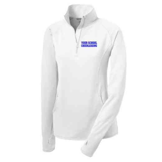 Cheerleading Sport-Tek Embroidered Womens Half Zip Stretch Pullover