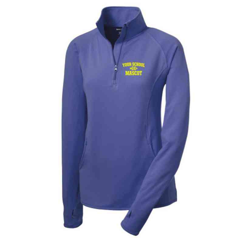 Cross Country Sport-Tek Embroidered Womens Half Zip Stretch Pullover