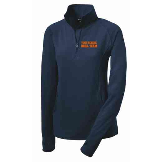 Drill Team Sport-Tek Embroidered Womens Half Zip Stretch Pullover