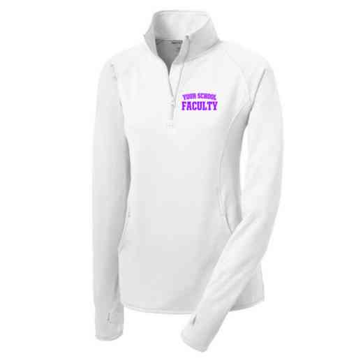 Faculty Sport-Tek Embroidered Womens Half Zip Stretch Pullover