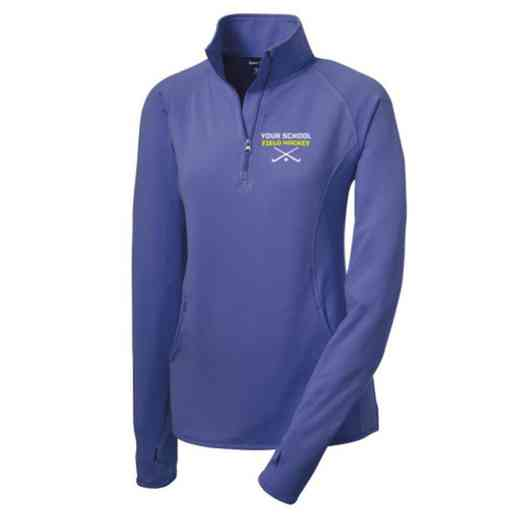 Field Hockey Sport-Tek Embroidered Womens Half Zip Stretch Pullover