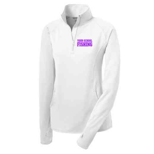 Fishing Sport-Tek Embroidered Womens Half Zip Stretch Pullover