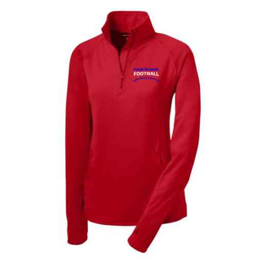 Football Sport-Tek Embroidered Womens Half Zip Stretch Pullover