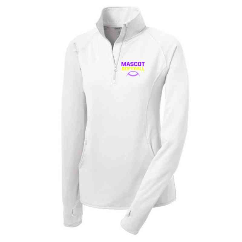 Softball Sport-Tek Embroidered Womens Half Zip Stretch Pullover