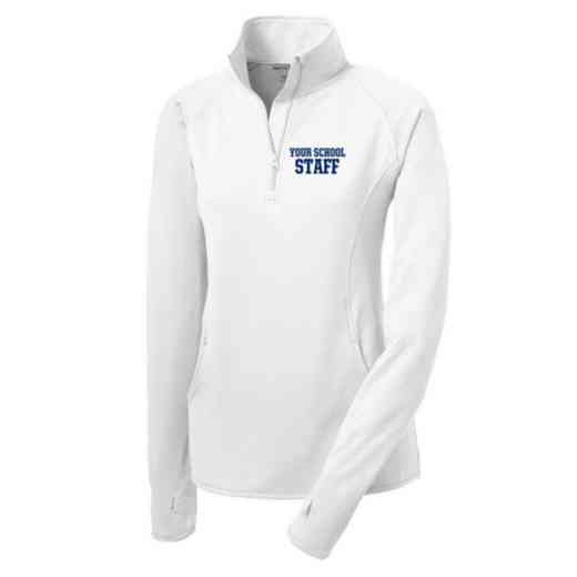 Staff Sport-Tek Embroidered Womens Half Zip Stretch Pullover
