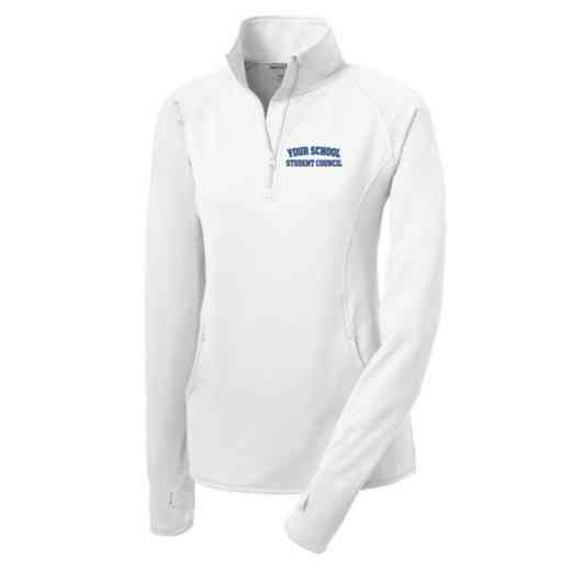 Student Council Sport-Tek Embroidered Womens Half Zip Stretch Pullover