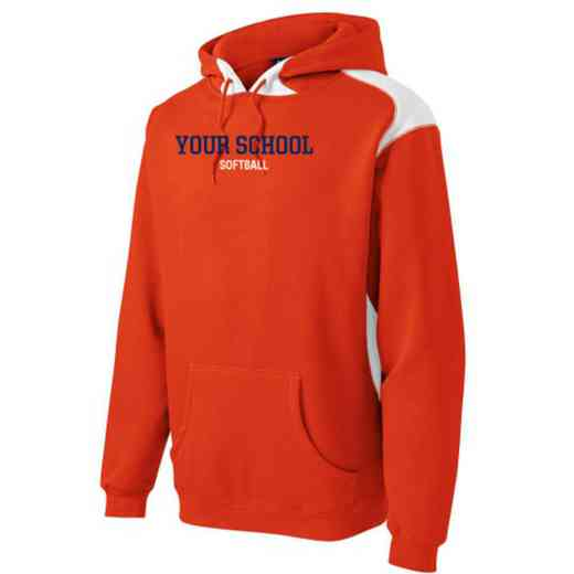 Softball Youth Heavyweight Contrast Hooded Sweatshirt