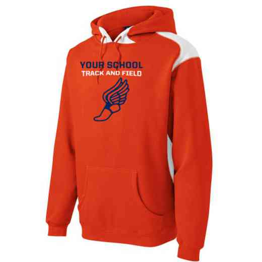 Track and Field Youth Heavyweight Contrast Hooded Sweatshirt