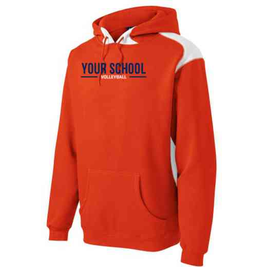 Volleyball  Youth Heavyweight Contrast Hooded Sweatshirt