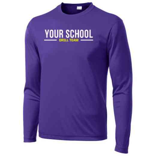 Drill Team Sport-Tek Youth Long Sleeve Competitor T-shirt