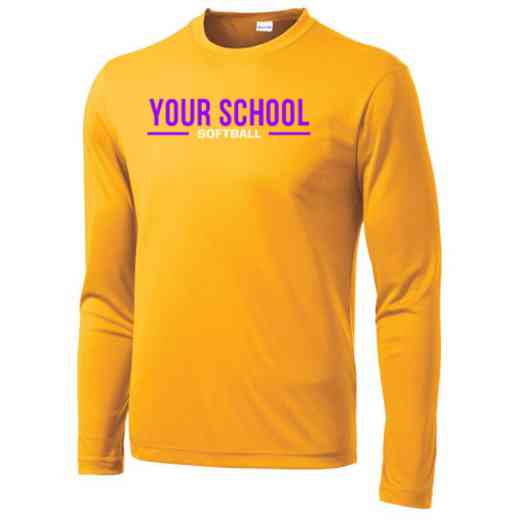 Softball Sport-Tek Youth Long Sleeve Competitor T-shirt