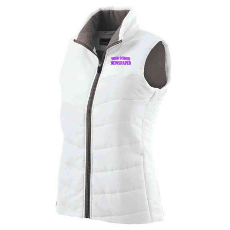 Newspaper Embroidered Womens Admire Vest