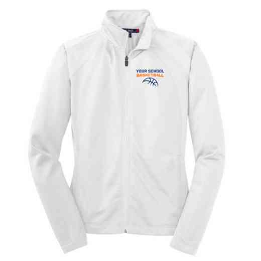 Basketball Embroidered Womens Tricot Track Jacket