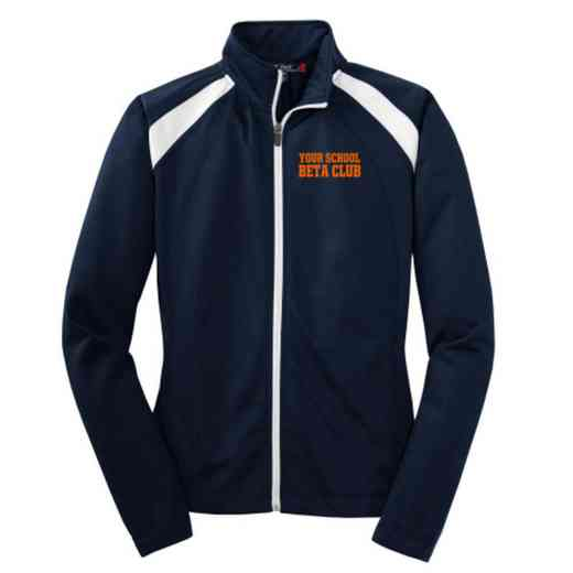 Beta Club Embroidered Womens Tricot Track Jacket