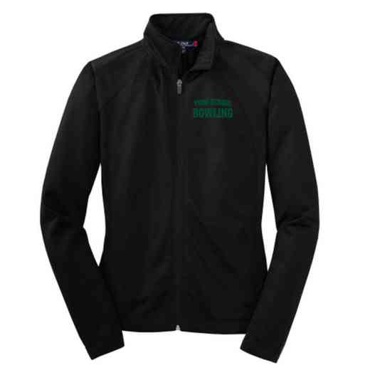 Bowling Embroidered Womens Tricot Track Jacket