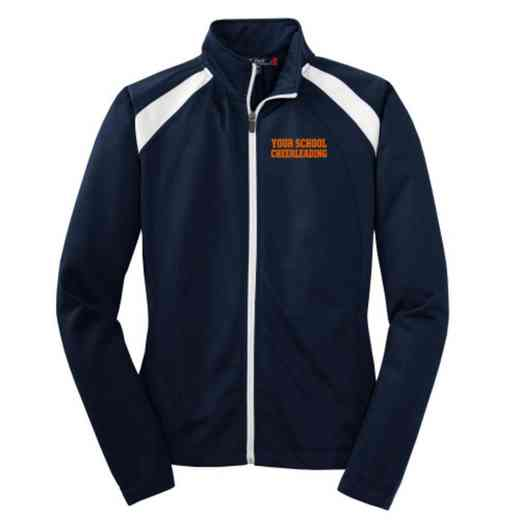Cheerleading Embroidered Womens Tricot Track Jacket