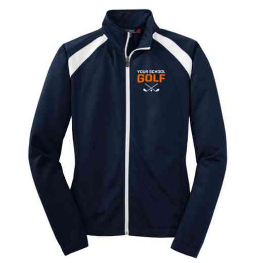 Golf Embroidered Womens Tricot Track Jacket