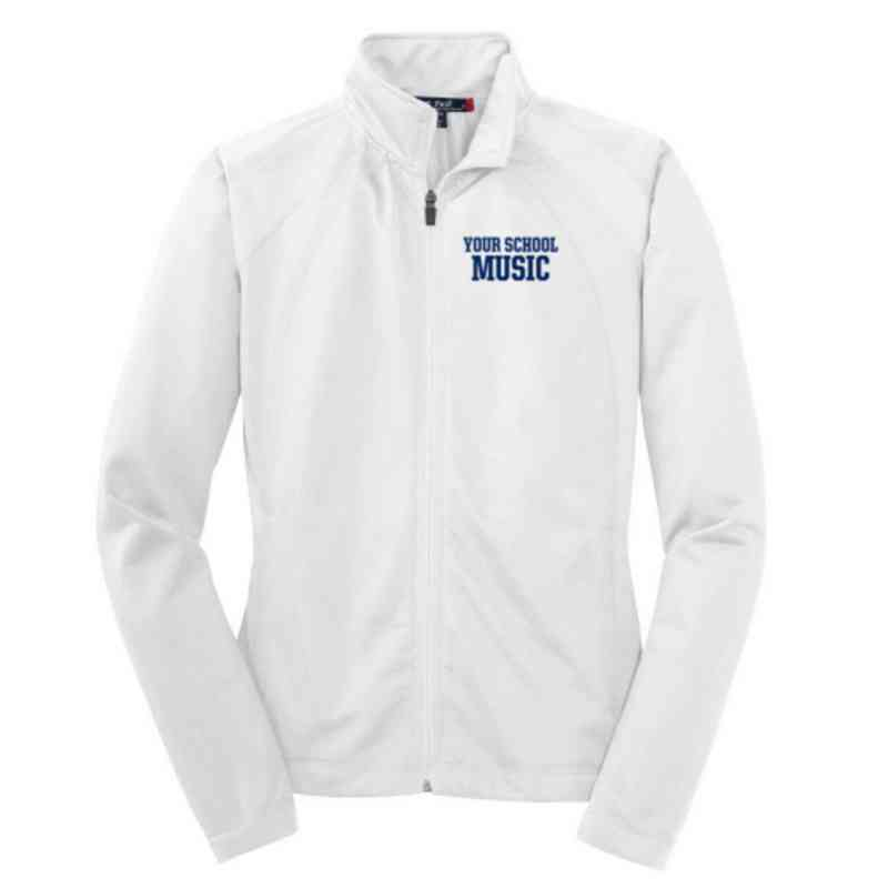 Music Embroidered Womens Tricot Track Jacket