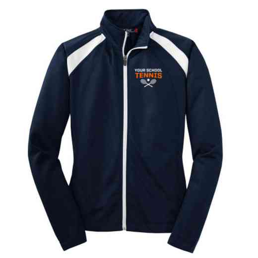 Tennis Embroidered Womens Tricot Track Jacket
