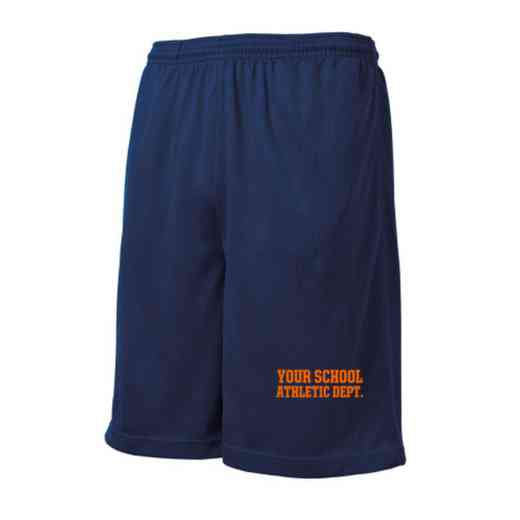 Athletic Department Embroidered Sport-Tek 9 inch Mesh Pocket Short